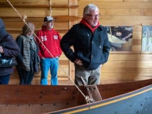 Carl at the boat
